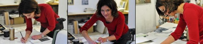 Julia Siegmund in ihrem Atelier (Foto: © 2015 Wolfgang Weßling)