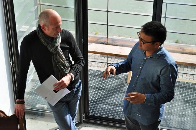 Andreas Cordes (l.) und Gan-Erdene Tsend (Foto: © 2015 Wolfgang Weßling)