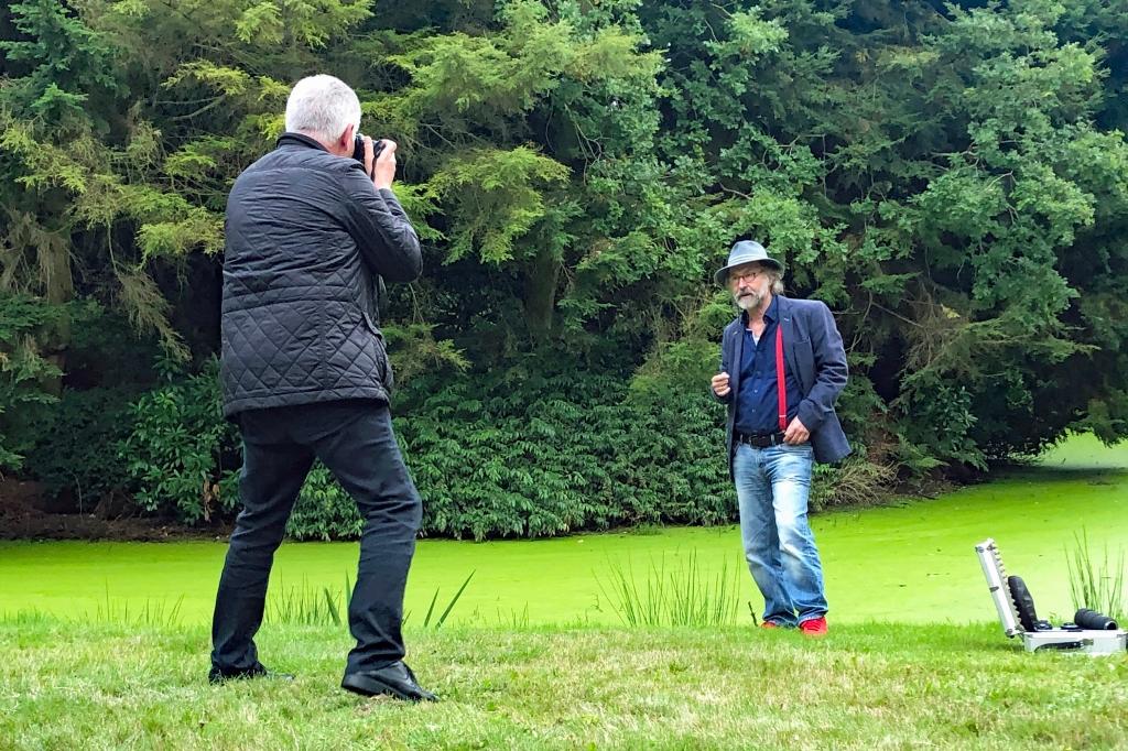 Wolfgang Weßling und Klaus-Peter Wolf am 12. September 2020 im Lütetsburger Schlosspark. (Foto: Sandra Detmer)
